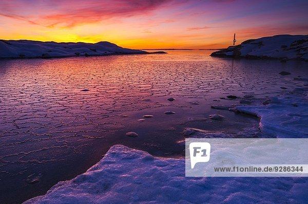 Winter Sonnenuntergang Küste