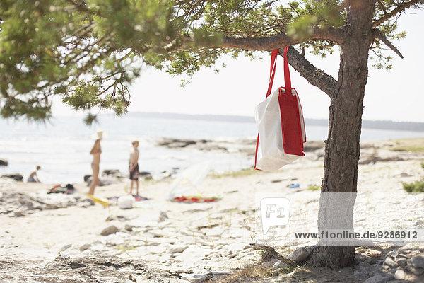 Strand Baum Tasche hängen