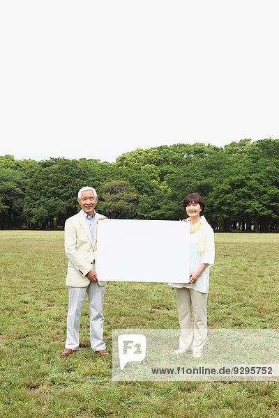 Senior Senioren Weißwandtafel Erwachsener japanisch