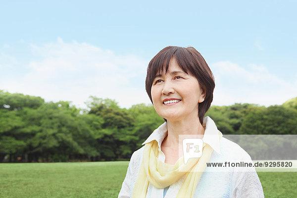 Senior Senioren Frau Erwachsener japanisch