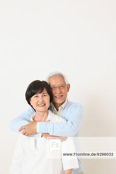 Senior Senioren Wand weiß Erwachsener japanisch