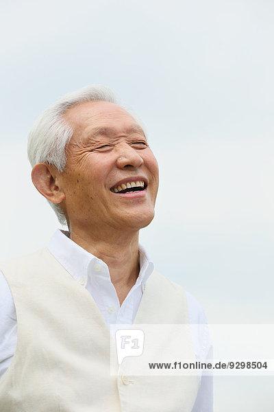 Senior Senioren Mann Erwachsener japanisch
