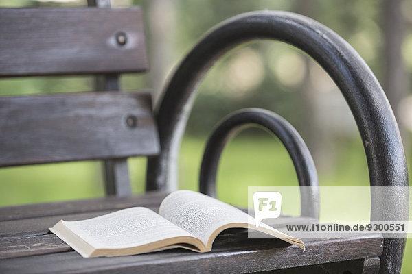 Buch,offen,Sitzbank,Bank,Taschenbuch