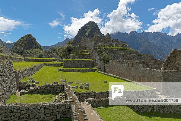 Ruinenstadt Machu Picchu  UNESCO Weltkulturerbe  Peru