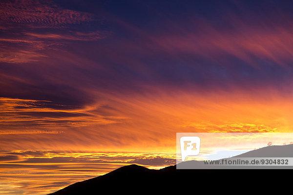 Sonnenuntergang  Picos de Europa  Asturien  Spanien