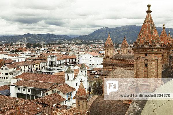Dach über Ansicht Cuenca Ecuador