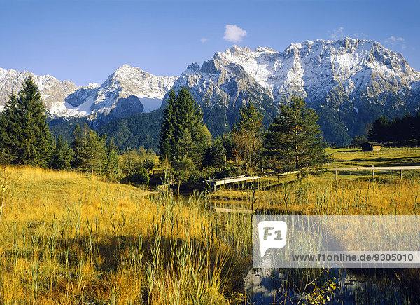Karwendel  von Mittenwald  Oberbayern  Bayern  Deutschland