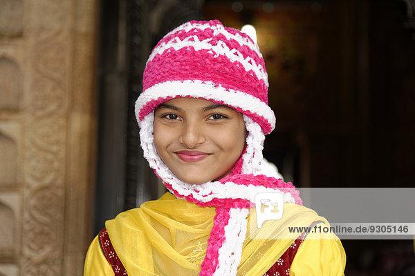Young Indian woman  portrait  Mysore  Karnataka  South India  India  Asia