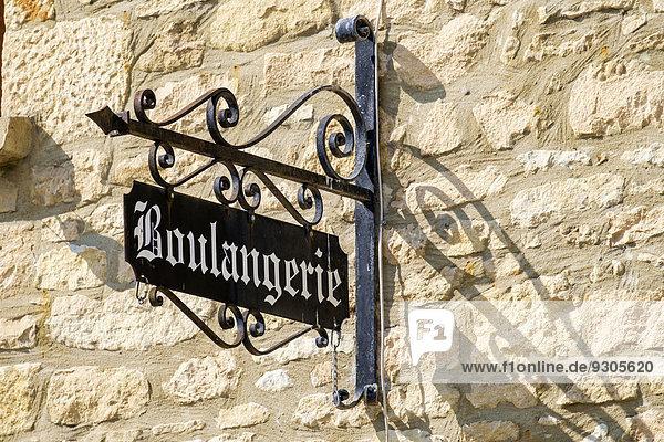 '''Boulangerie''  Bäckerei-Schild  La Roque-Gageac  Dordogne  Aquitanien  Frankreich'