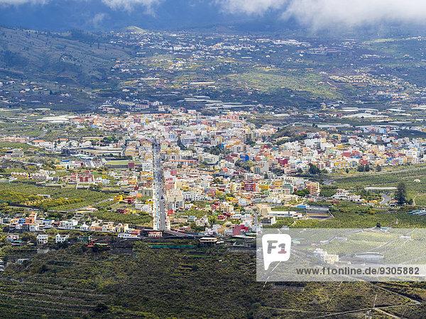 Zeit Ansicht Kanaren Kanarische Inseln La Palma Mirador Spanien