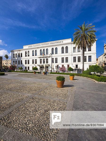 Das Gymnasium Liceo Classico Vittoria Emanuele II  Corso Vittorio Emanuele  Palermo  Sizilien  Italien