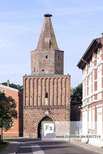 Mühlentor  Stadttor der mittelalterlichen Stadtbefestigung  Pasewalk  Mecklenburg-Vorpommern  Deutschland