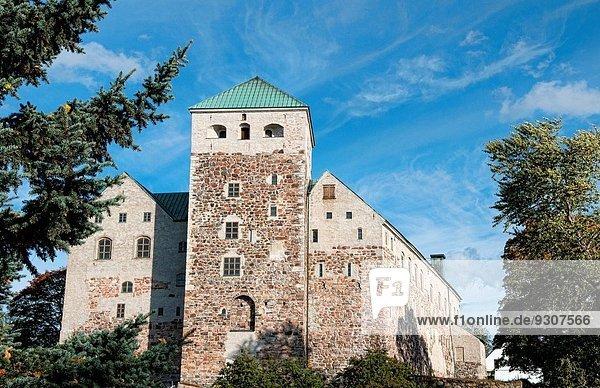 Stein Palast Schloß Schlösser Sehenswürdigkeit antik Jahrhundert Finnland alt Turku