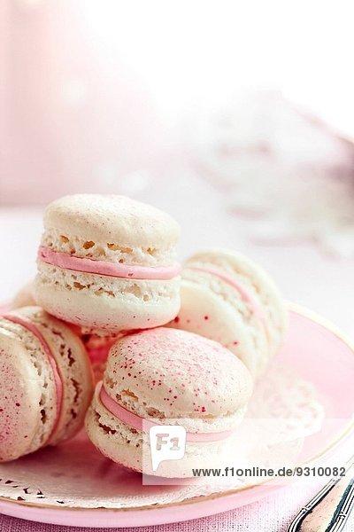französisch füllen füllt füllend Erdbeere Sahne