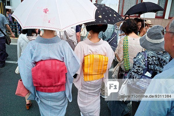 Frau Tradition Kleidung japanisch Kimono Kyoto