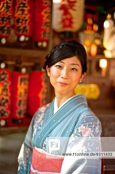 Frau Tradition Kleidung Kimono