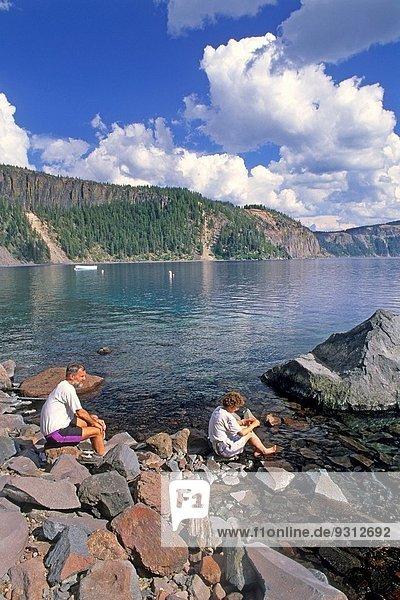 Nationalpark Wasser See Krater Zugänglichkeit Oregon