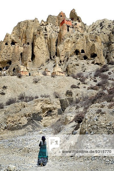 nahe Frau Höhle Tibet Grenze Lori Kloster Mustang Nepal alt