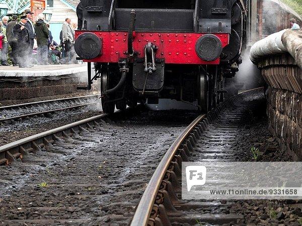 Detail Details Ausschnitt Ausschnitte Großbritannien Wasserdampf Retro Yorkshire and the Humber Motor Lokomotive