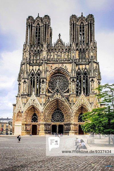 Frankreich Kathedrale Geographie Champagner Reims
