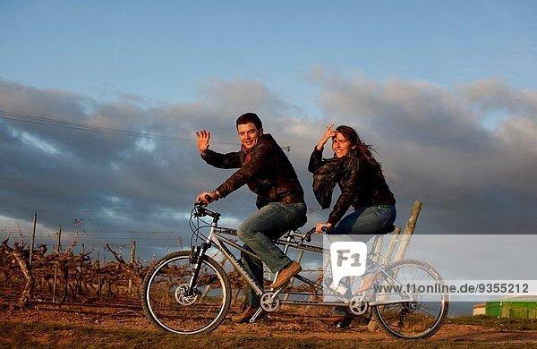 fahren Fahrrad Rad Spanien Tandem
