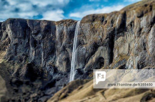 Fagrifoss waterfall  Eastern Iceland.