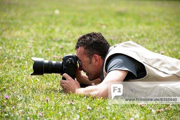 Photographer shooting outdoors