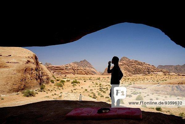 Wasser Frau Picknick Schutz Silhouette Wüste trinken Liste Zimmer UNESCO-Welterbe eingravieren