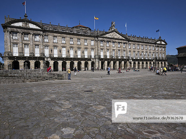 Spain  Santiago de Compostela  The Way of St James  View of the townhall