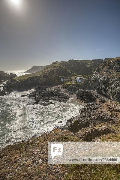 Großbritannien  England  Kynance Cove  Lizard Point  Küste und Häuser