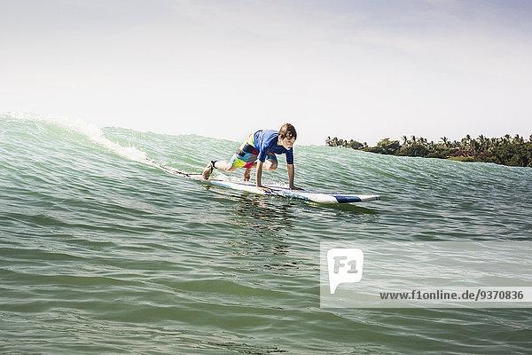 Europäer Junge - Person Ozean Wellenreiten surfen
