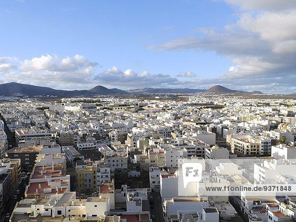 Stadtansicht  Arrecife  Lanzarote  Kanaren  Spanien  Europa
