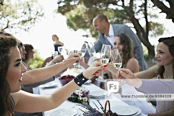 Wedding Celebration Outdoors  Croatia  Europe