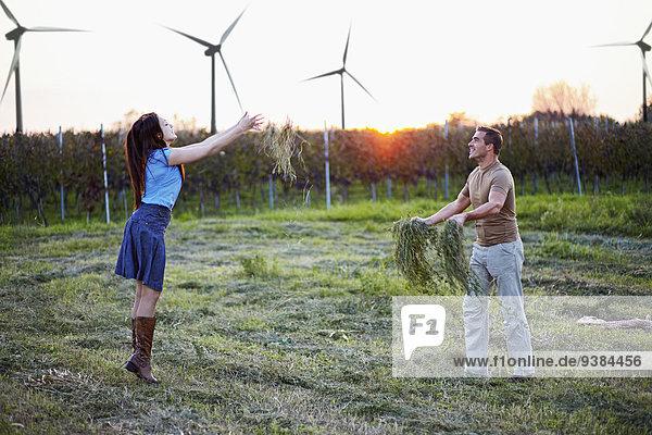 werfen Feld Gras