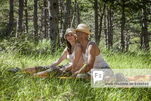 Entspannung jung Gras