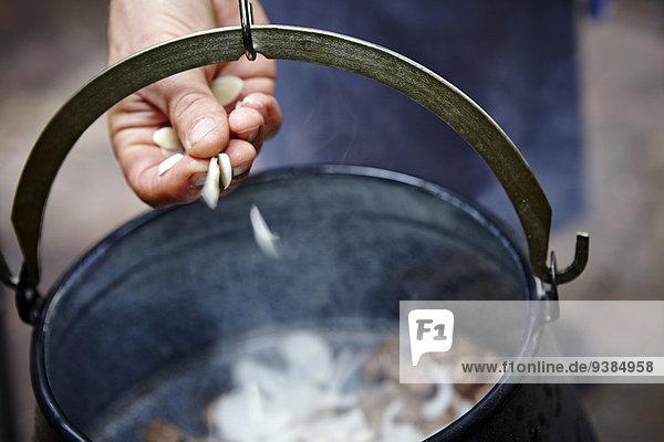 kochen Gulaschsuppe Eintopf