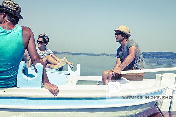 Mensch Menschen Reise Boot jung