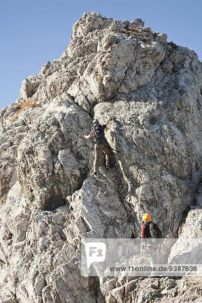 Klettern 2 Bergsteiger