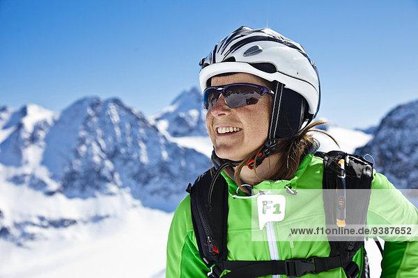 Skifahrer Skibrille Skisport Helm