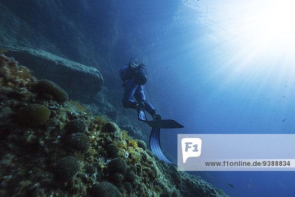 Sonnenlicht Adriatisches Meer Adria