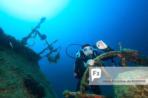 Schiffswrack Adriatisches Meer Adria