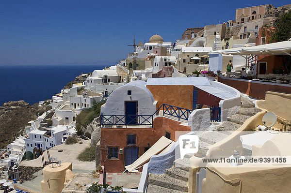 Greece  Europe  Cyclades  island  isle  islands  Greek  outside  Mediterranean Sea  day  nobody  Santorin  Santorini  Oia  houses  homes