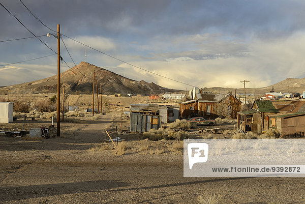 USA  United States  America  Nevada  Goldfields  Ghost town  history  mining  outback  buildings