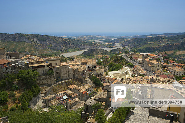 Italy  Europe  Calabria  outside  day  nobody  Stilo  town view  town  city  urban  municipal