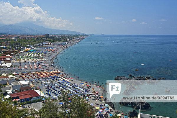 Außenaufnahme Europa Tag Strand Küste niemand Meer Kalabrien Italien Mittelmeer Tourismus