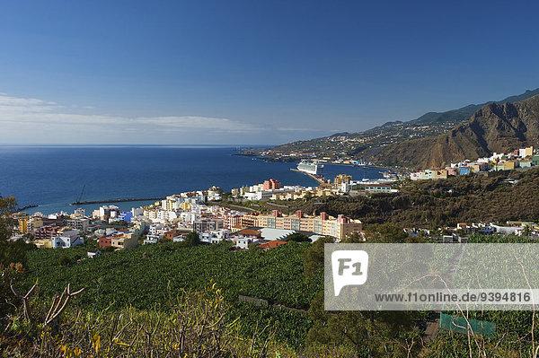 Außenaufnahme Städtisches Motiv Städtische Motive Straßenszene Europa Tag Küste niemand Stadt Großstadt Meer Atlantischer Ozean Atlantik Kanaren Kanarische Inseln Hauptstadt La Palma Spanien