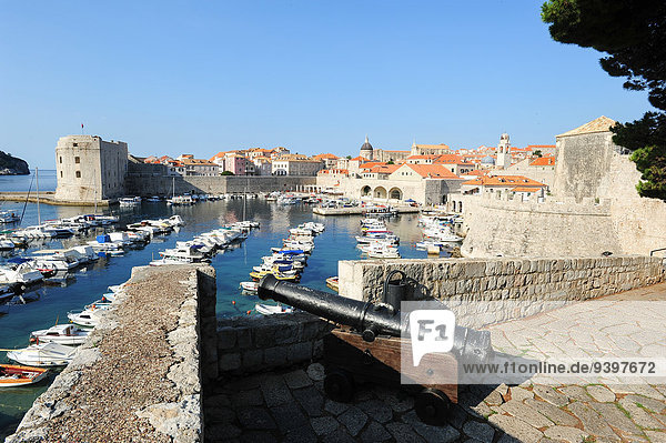 Castle  Adriatic  ancient  architecture  bright  city  cityscape  coast  coastline  Croatia  Balkans  Europe  Dalmatia  Dubrovnik  Europe  famous  fort  fortress  harbour  heritage  historical  holiday  houses  landmark  medieval  Mediterranean  old  outdoors  panorama  panoramic  port  red  roof  sea  ship  summer  tourism  touristic  tower  town  travel  unesco  view  walls  water
