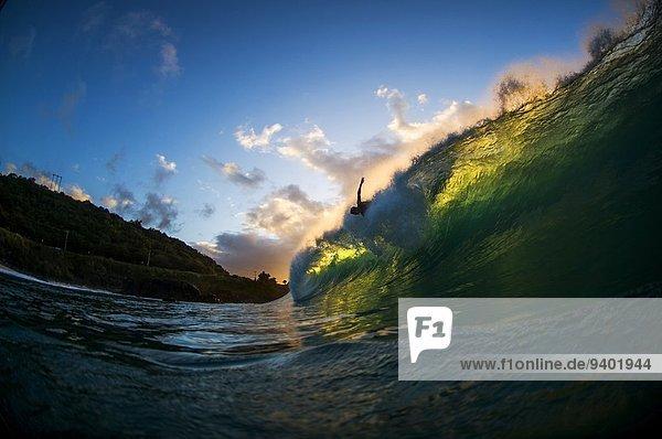 fangen Wasserwelle Welle