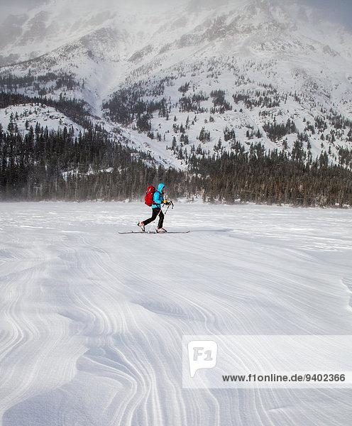 Muster Frau Ski Wind Gesundheitspflege See 2 Schnee