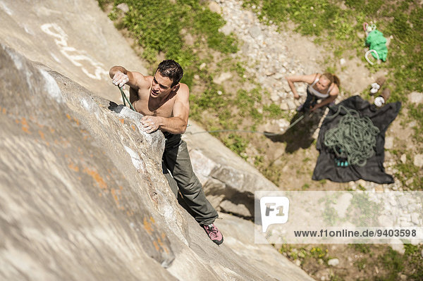 Geschichte Klettern Richtung Granit